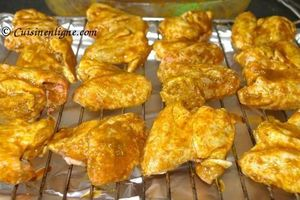 Ailes de poulet mariné aux épices