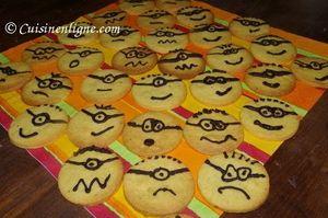 Biscuits décorés en Minions
