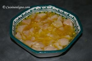 Brochette de poulet mariné aux légumes (barbecue)