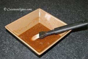 Cailles marinées au miel et aux épices