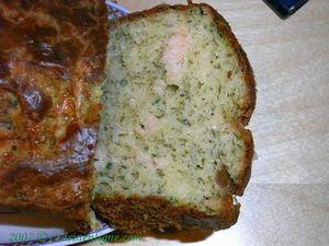 Cake au saumon fumé