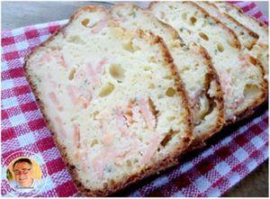 Cake salé aux deux saumons et fromage