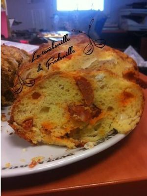 Cake chèvre chorizo