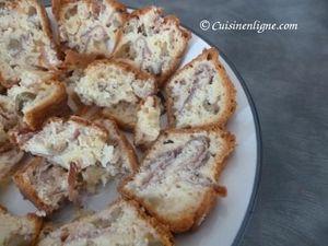 Cake salé jambon cru mozzarella