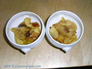 Camembert rôti sur pommes caramélisées
