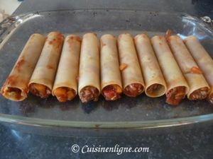 Cannellonis au boeuf et estragon