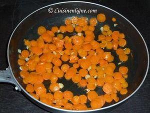 Faire revenir les carottes à la poêle