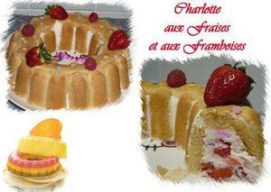 Charlotte aux fraises et framboises
