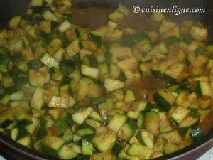 Courgettes au curry et graines de cumin