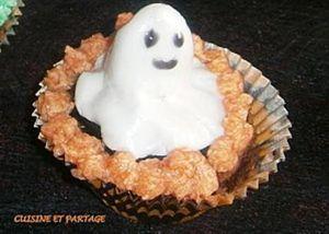 Cupcake d'Halloween, glaçage à la crème au beurre
