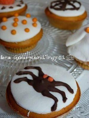 Cupcakes d'Halloween à la courge butternut