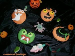 Cupcakes d'Halloween à la crème de marron