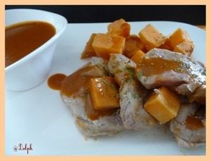 Filet mignon aux patates douces, sauce porto (thermomix)
