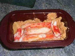 Foie gras mi-cuit au crabe