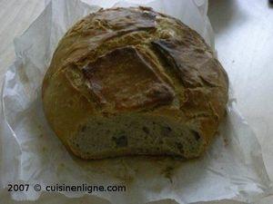 La miche de pain au levain liquide Kayser cuite en cocotte