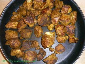 Le poulet au curry