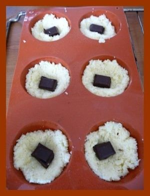 Moelleux congolais coeur chocolat