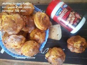Muffins salés aux lardons et épices Tex Mex
