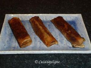 Nems de foie gras et compotée de pommes