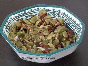 Salade de fèves aux lardons
