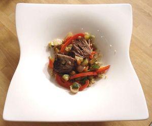 Souris d'agneau confite et salade de couscous