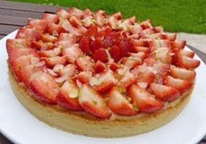 Tarte aux fraises à l'amaretto