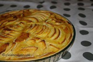 Tarte bourdaloue aux pommes