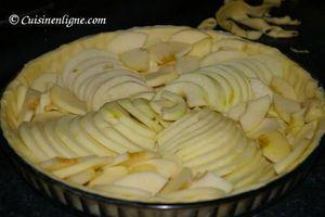 Disposer les pommes sur la tarte