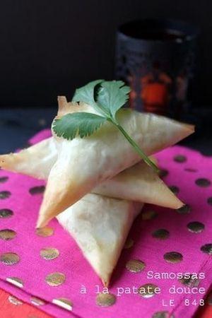 Triangles exotiques à la patate douce